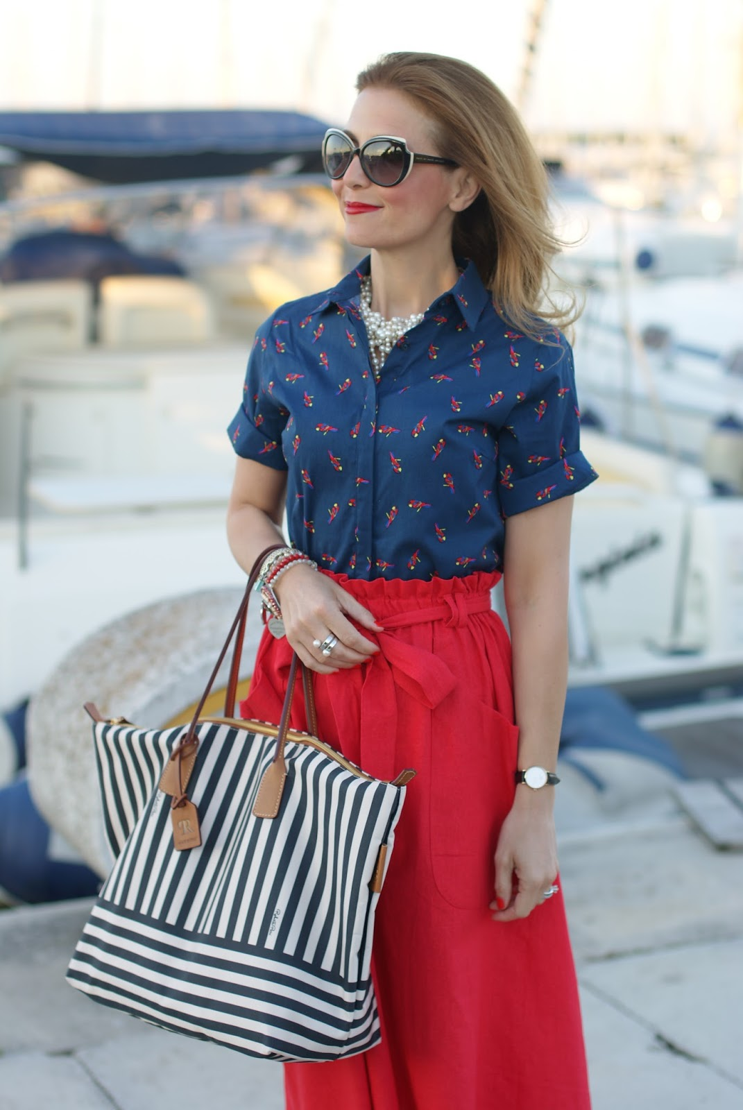 Roberta Pieri Robertina bag on Fashion and Cookies fashion blog for a perfect summer style look