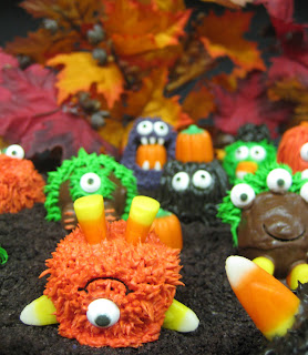 Halloween Little Monster Cake Balls - Close-Up View 1