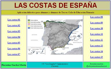 http://cplosangeles.juntaextremadura.net/web/cmedio6/las_costas_de_espana/index.htm