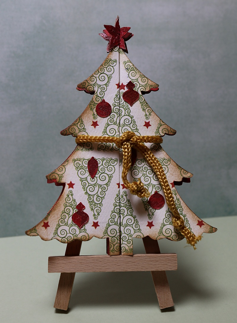 Stempeloase Sizzix Thinlits Fold A Long Christmas Tree Card