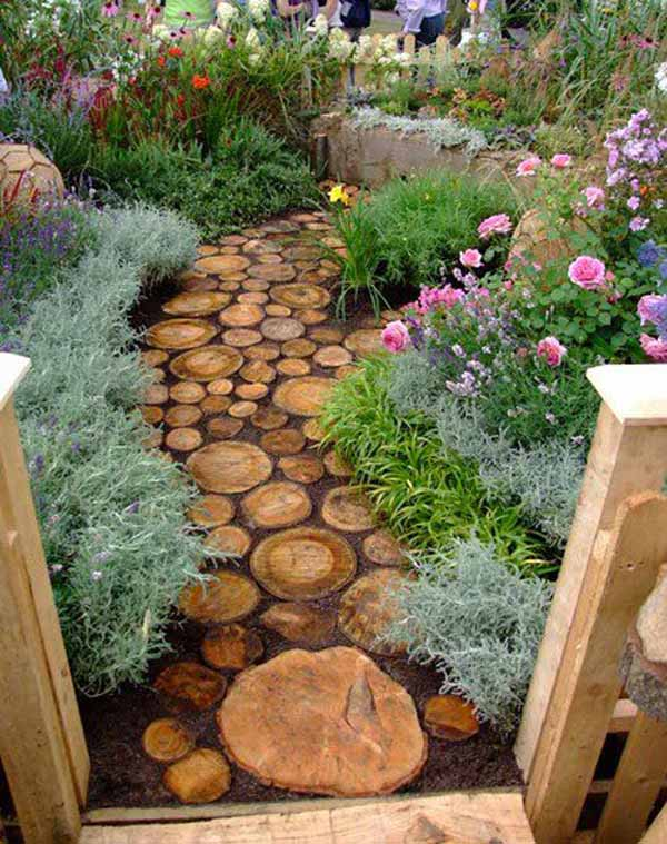 25 lovely diy garden pathway ideas idees and solutions for Diy pathway ideas
