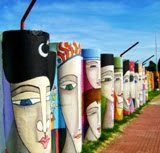 Arte urbano: Mural del Campus Municipal de Colonia del Sacramento, Uruguay