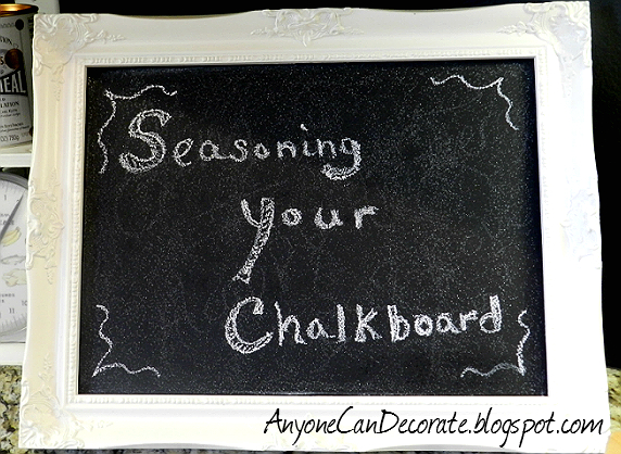 Anyone can decorate how to prevent fix chalkboard ghosting for Diy chalk paint problems