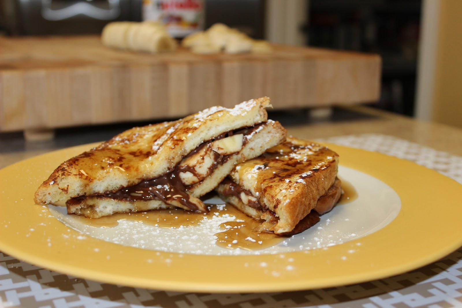 The Cookbook Project: Nutella Banana Stuffed French Toast