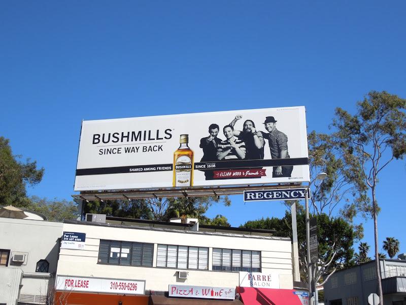 Bushmills Elijah Woods billboard