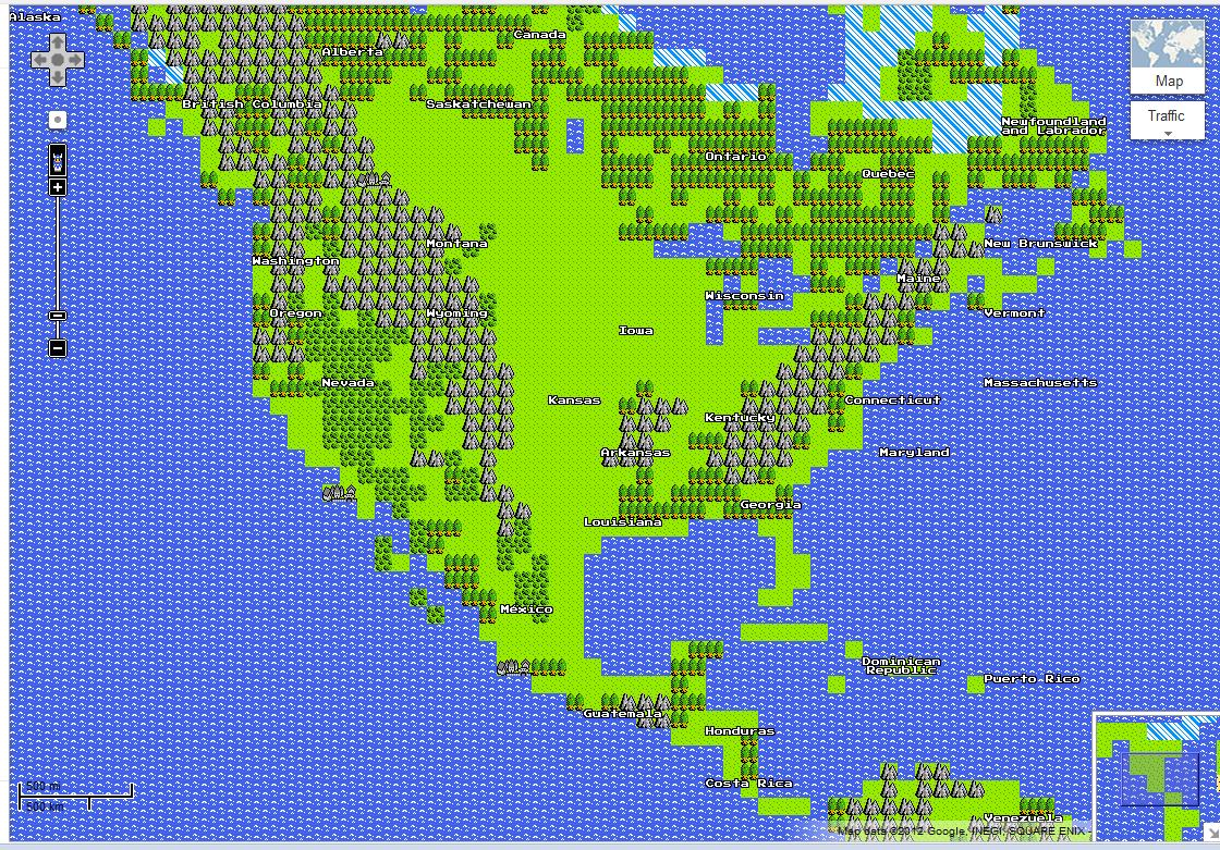 what its maps might look like on the nintendo system similar to the original legend of zelda maps here s a screen capture of the usa in 8 bit