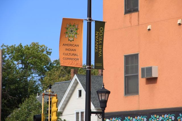 American Indian Cultural Corridor signage