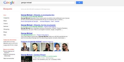 Interfaz Google español 2012
