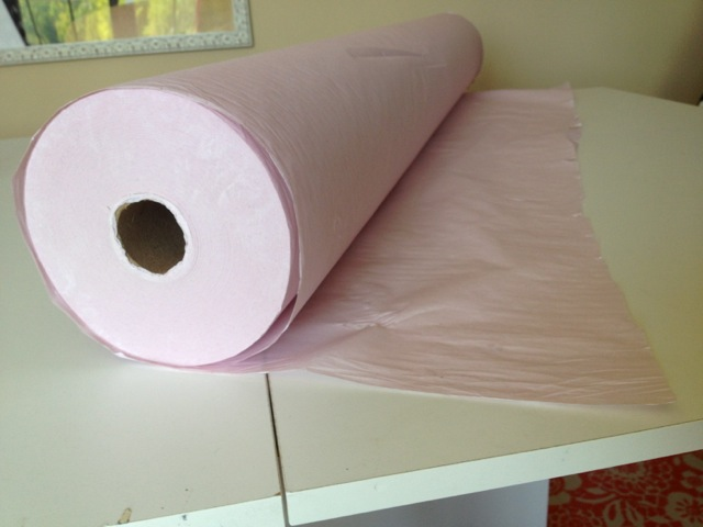 Supply Source: Tissue Paper by the Roll for Cutting Slippery Fabrics