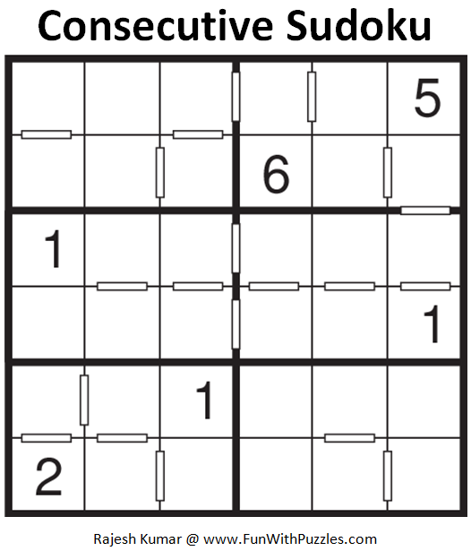 Consecutive Sudoku (Mini Sudoku Series #57)