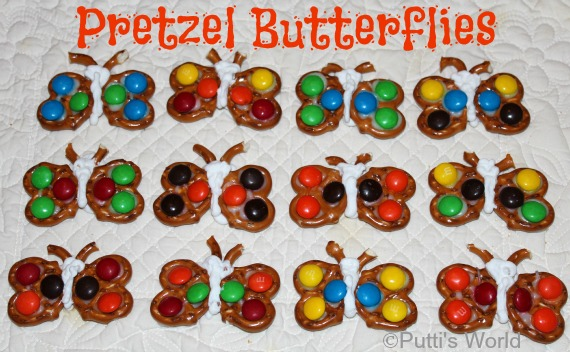 Pretzel Butterfly Kids fun food party