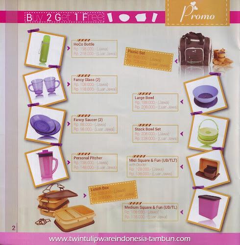 Promo Buy 2 Get 1 Free Tulipware | Januari - Februari 2014