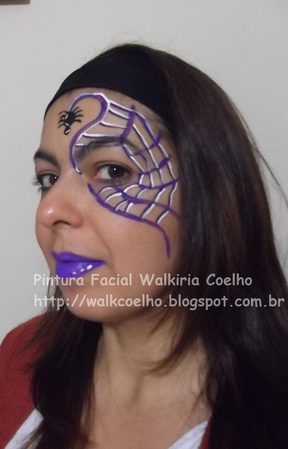 Pintura art stica facial wal coelho pinturas de halloween for Pinturas de cara para halloween