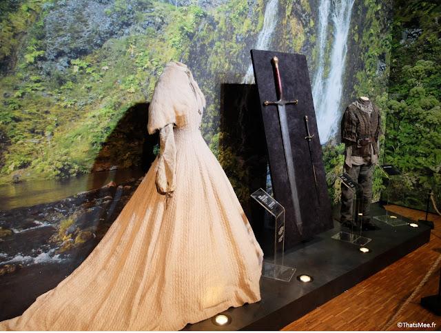 www.gotexhibit.com exposition exhibition Games Of Thrones, Robe de Lady sansa stark north of the wall Paris OCS HBO carrousel de Louvre