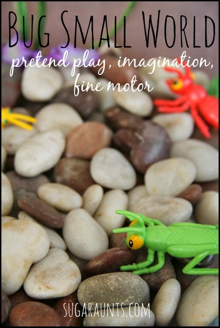 This sensory bin will inspire imagination, pretend play, and fine motor skills.