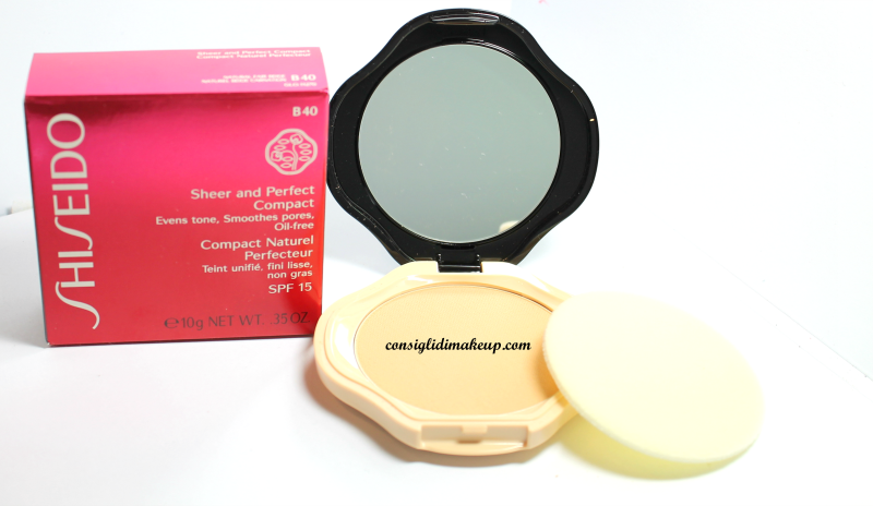 sheer and perfect shiseido fondotinta