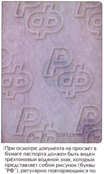 фото Водяные знаки на паспорте