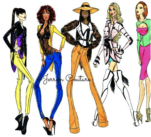 jerron couture jackets fashion design fashion illustration