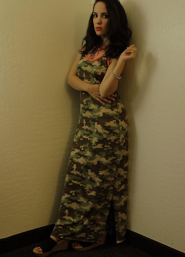 Camo Maxi Dress
