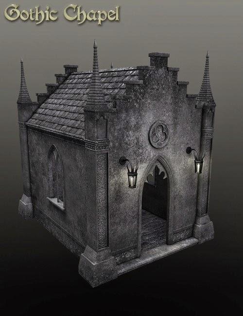 DAZ 3D - Chapelle gothique