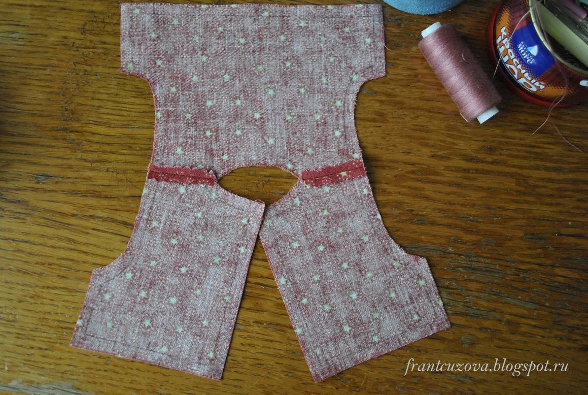 выкройка сарафана для текстильной куклы