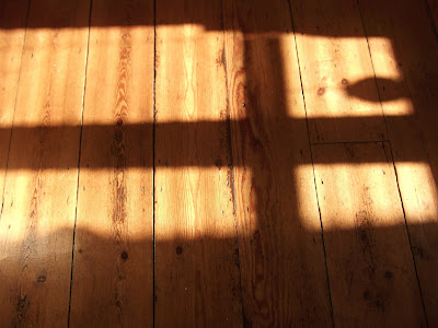 shadows on wooden floor