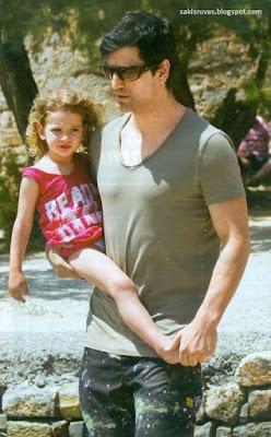 На фото: Сакис Рувас и его дочь