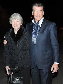 Pierce Brosnan and his mother Mary Carmichael in Dublin