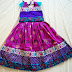 Multiple Borders Kids Lehenga