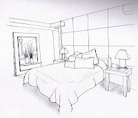 contoh lukisan perspektif ruang dapur