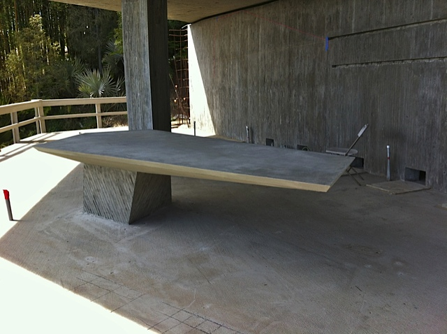 concrete tables concrete cantilevered desk architectoid