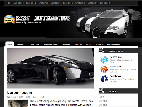 Best Automotive Blogger Theme