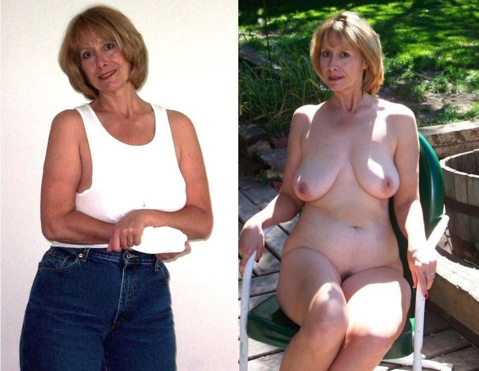 Mature undressed dressed sexy wife