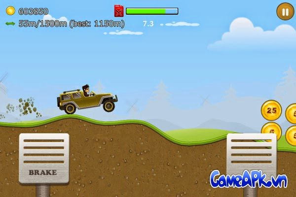 Up Hill Racing:Hill Climb v1.02 hack full tiền cho Android