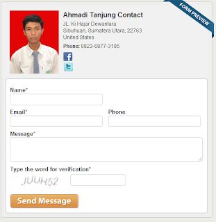 Cara Membuat Form ContactMe di Blog