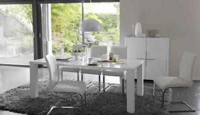 Salle à manger moderne blanche