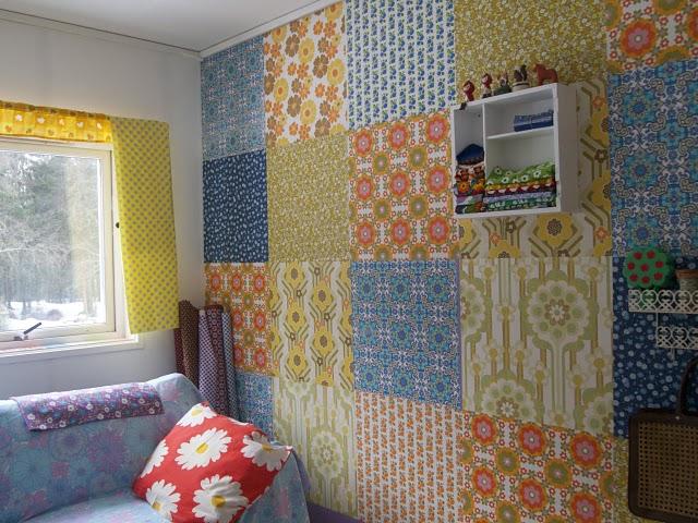 Coisas que sei fazer paredes revestidas com tecidos - Papel para revestir paredes ...