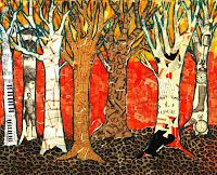 tree art in mixed media by schulmanart