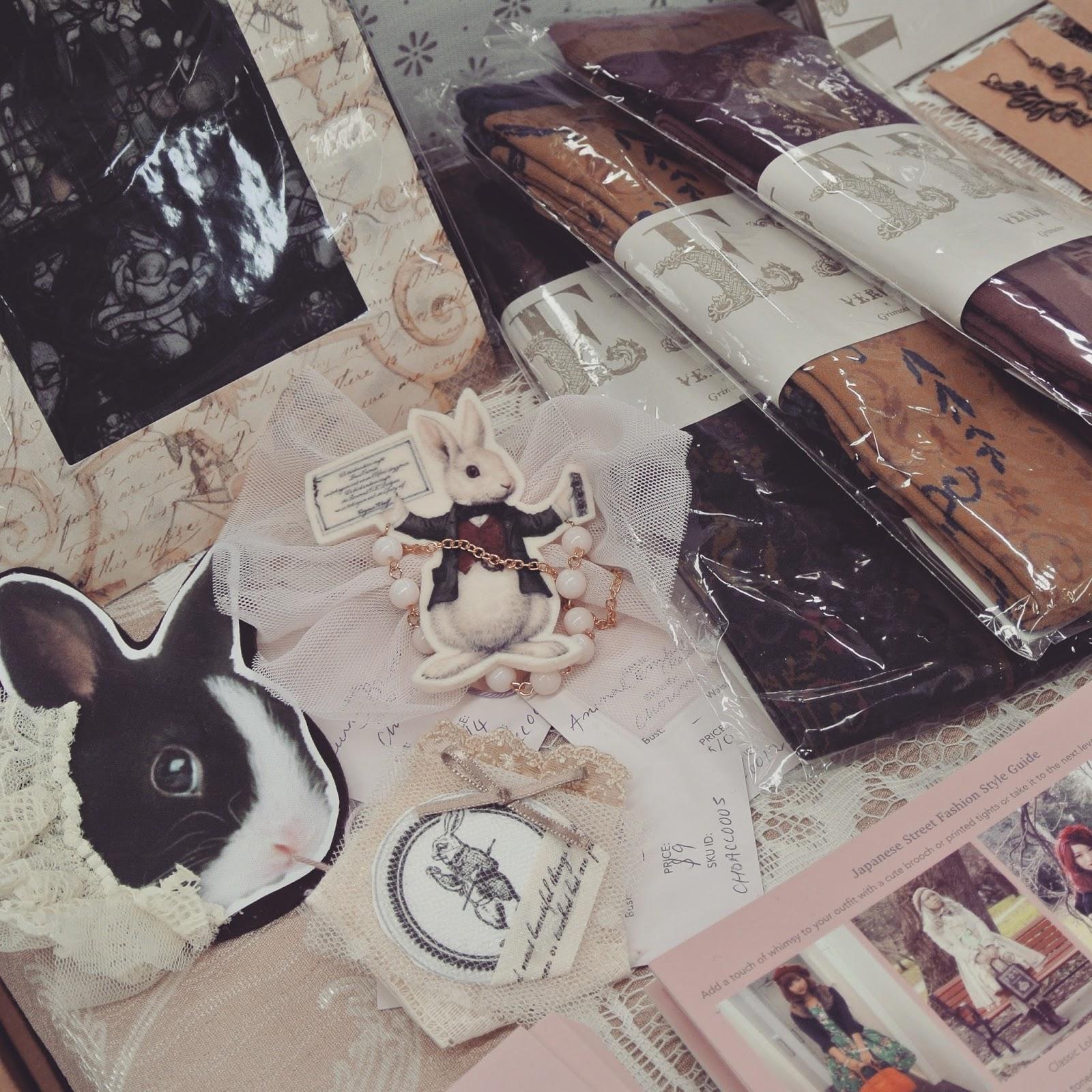 grimoire verum chiffon rose shop kawaii fashion cute woodland ilustration melbourne market supanova 2015