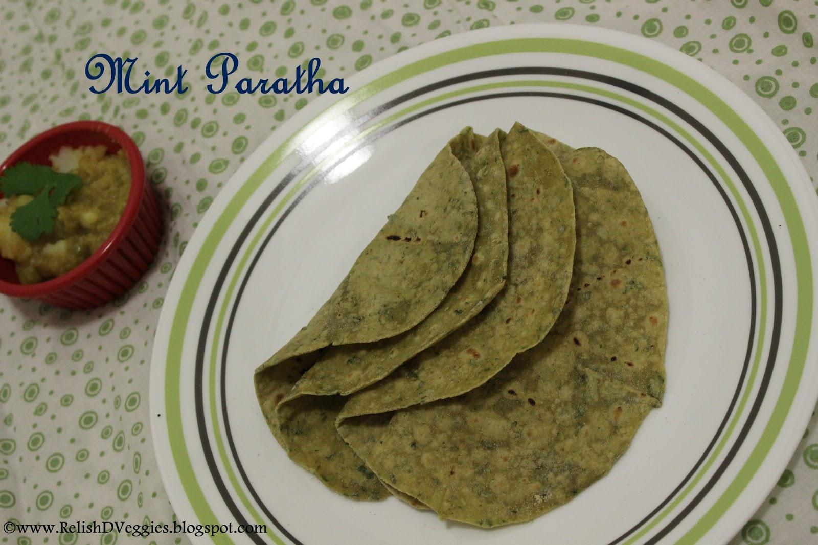 Relish the Veggies: Mint Paratha/ Pudhina Paratha