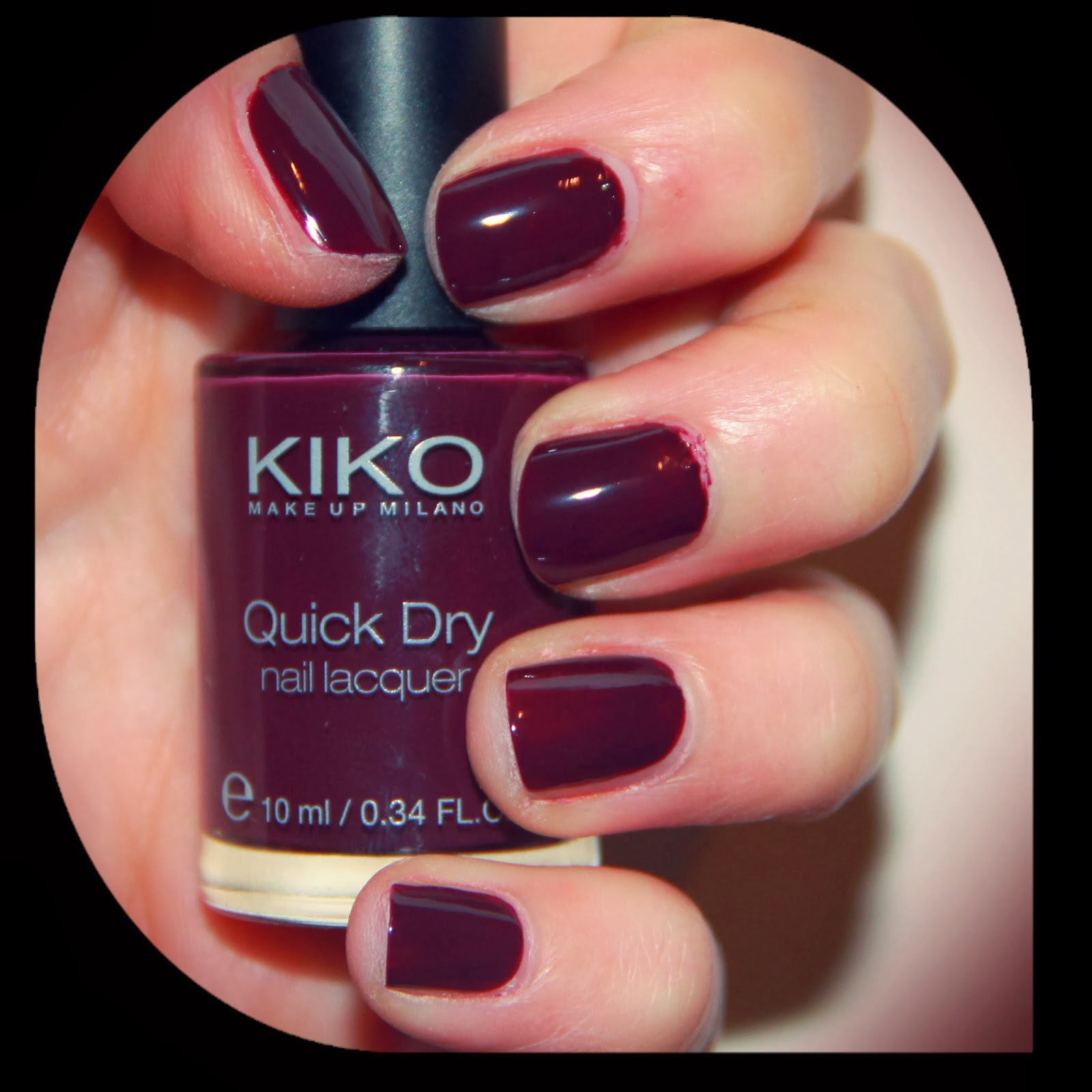 MichelaIsMyName: NOTD // KIKO Quick Dry Nail Lacquer in 811 Prugna