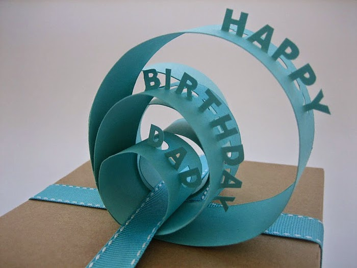 Amazing Happy Birthday Dad Gift Wrapper Design