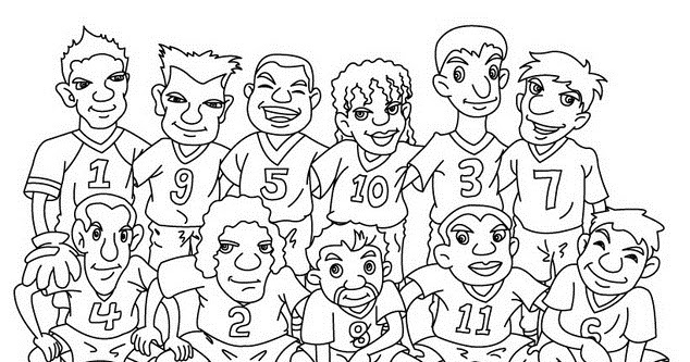 Selección de Fútbol Mexicana para colorear ~ 4 Dibujo