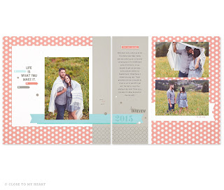 Zoe Scrapbook Layout
