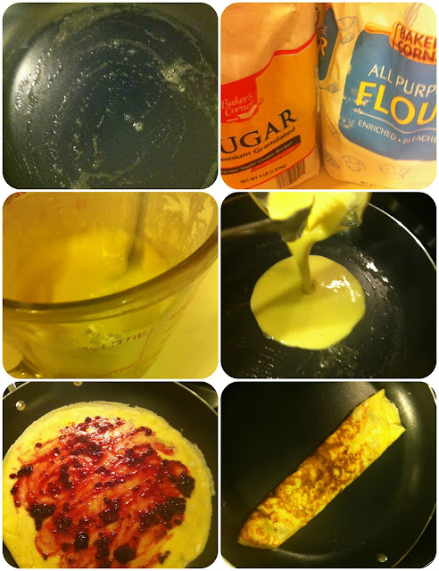 making homemade crepes