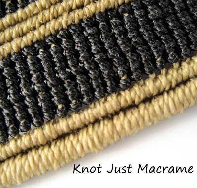 Close up on macrame knots