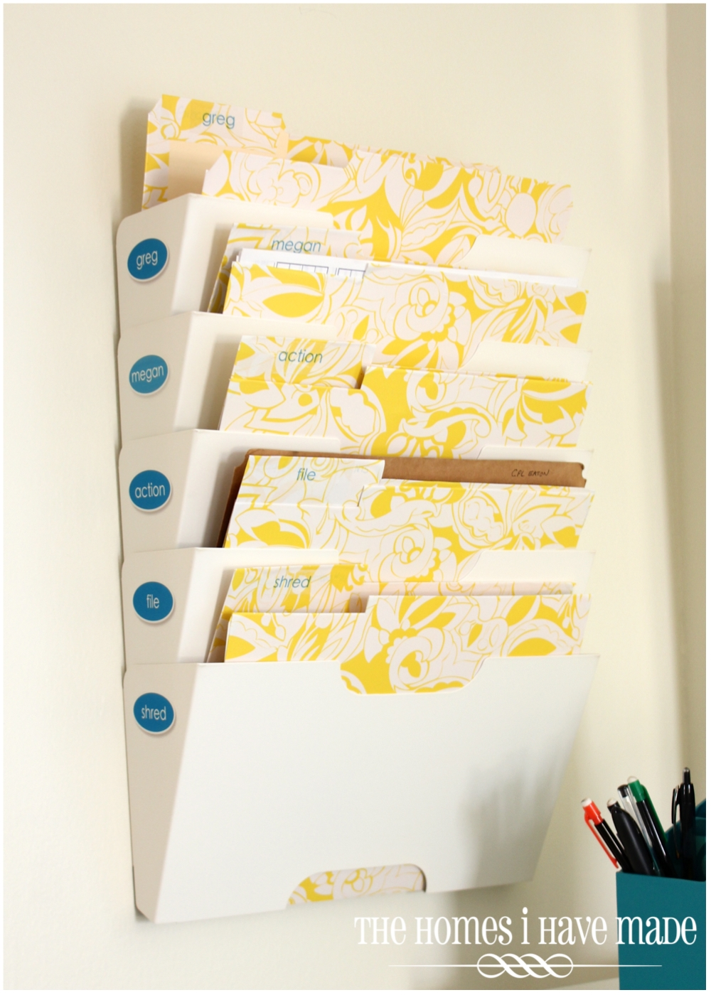 DIY Pretty File Folders {Command Center Project} | The Homes I Have Made