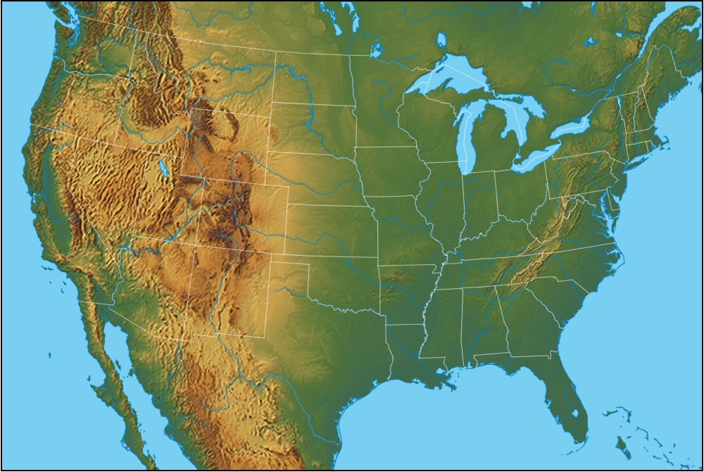USA Physical Features GENERAL WIKI - Physical features of canada and the united states