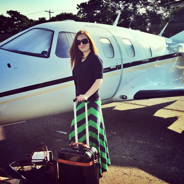 Flying in a private jet Eclipse 500 from new york to Martha's Vineyard