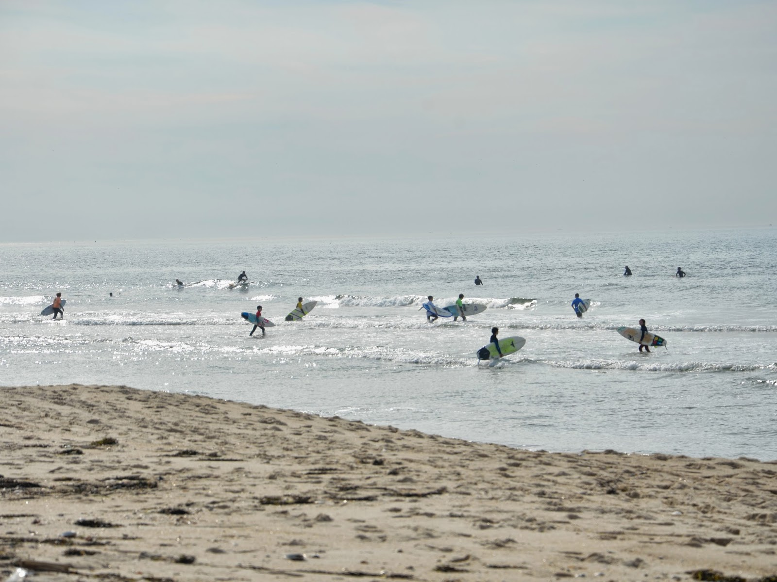 surfers at gilgo beach